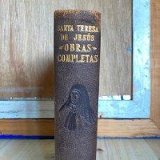 Libros de segunda mano: OBRAS COMPLETAS. SANTA TERESA DE JESÚS. AGUILAR 1948.. Lote 194244658