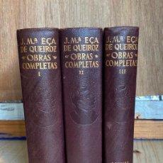 Libros de segunda mano: JOSE MARIA EÇA DE QUEIROZ. OBRAS COMPLETAS. 3 VOL. AGUILAR. 1959-60.. Lote 194244983