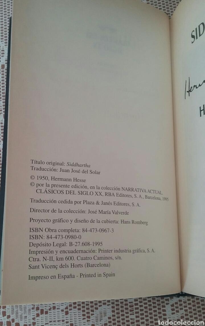 Libros de segunda mano: SIDDHARTA.HERMANN HESSE.CLASICOS DEL SIGLO XX. - Foto 2 - 194250143