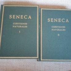 Libros de segunda mano: NATURALES CUESTIONES. VOLUMEN I Y II SÉNECA, LUCIO ANNEO EDITORIAL:CSIC. 1979. Lote 194278276