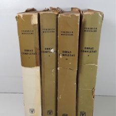 Libros de segunda mano: OBRAS COMPLETAS. 4 TOMOS. FEDERICO NIETZSCHE. EDIT. AGUILAR. 1962/63.. Lote 194284590