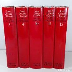Libros de segunda mano: OBRAS COMPLETAS. J. ORTEGA Y GASSET. 5 TOMOS. EDIT. ALIANZA. MADRID. 1983.. Lote 194300170