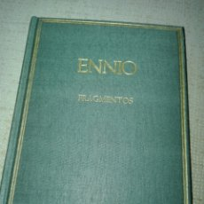 Libros de segunda mano: QUINTO ENNIO CSIC, ESPAÑA, 1999. FRAGMENTOS. ALMA MATER. HISPÁNICA AUTORES GRIEGOS Y LATINOS. Lote 194345452