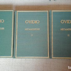 Libros de segunda mano: METAMORFOSIS P. OVIDIO NASON VOLUMEN I-II Y III. COLECCIÓN HISPÁNICA DE AUTORES GRIEGOS Y LATINOS. Lote 194351397