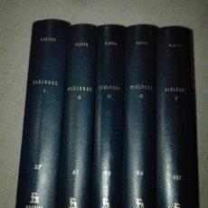 Libros de segunda mano: PLATÓN. DIÁLOGOS. 37, 61, 93,94, 117. CLÁSICOS GREDOS. 1983/88. CARLOS GARCÍA GUAL. FEDRO, REPÚBLICA. Lote 194356052