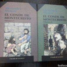 Libros de segunda mano: EL CONDE DE MONTECRISTO. 2 VOLUMENES. DUMAS, ALEXANDRE. PUBLICADO POR ED. CÍRCULO DE LECTORES. (199. Lote 194512465