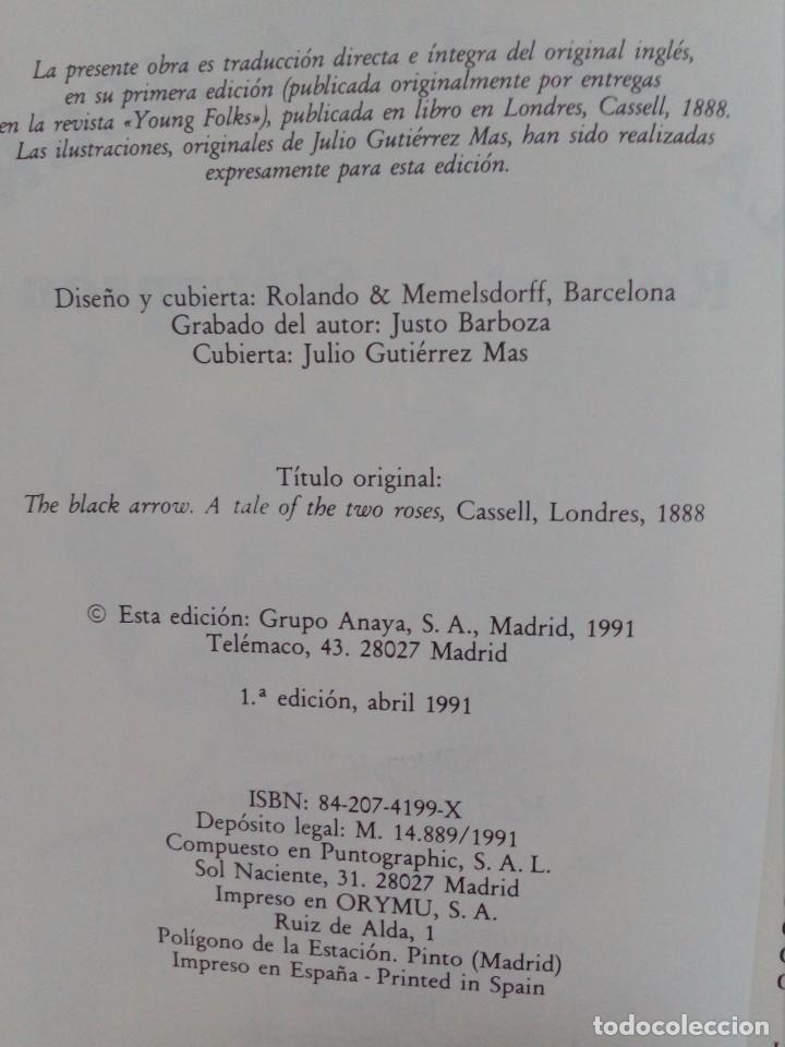 Libros de segunda mano: Tus Libros - La Flecha Negra - Anaya - 1991 - Foto 5 - 194516528
