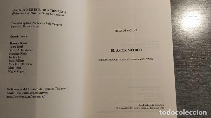 Libros de segunda mano: El amor médico Tirso de Molina Editorial: INSTº EST. TIRSIANOS, PAMPLONA Edicion critica de Blanc - Foto 3 - 194524032