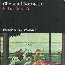Libros de segunda mano: EL DECAMERO GIOVANNI BOCCACCIO LA BUTXACA. Lote 194532735