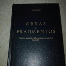Libros de segunda mano: HESÍODO. OBRAS Y FRAGMENTOS. TEOGONÍA, TRABAJOS Y DÍAS, ESCUDO, FRAGMENTOS, CERTAMEN. 1983. GREDOS. Lote 194542172