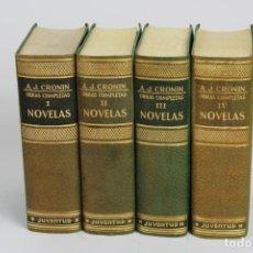 Libros de segunda mano: OBRAS COMPLETAS A.J.CRONIN. NOVELAS. 4 TOMOS. SEGUNDA EDICION, 1956.. Lote 194651946
