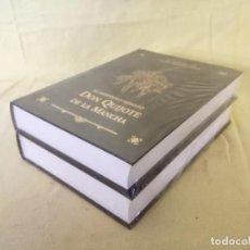 Libros de segunda mano: EDICIÓN DOBLE DEL QUIJOTE DE LUJO, LIMITADA Y GRAN FORMATO, EDICION ILUSTRADA DANIEL URBABIETA. Lote 194763167