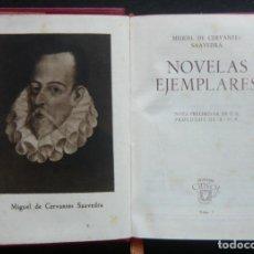 Libros de segunda mano: 1943 - CERVANTES: NOVELAS EJEMPLARES - AGUILAR, CRISOL - LITERATURA DEL SIGLO DE ORO - 1ª ED.. Lote 194763792