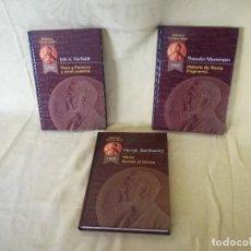 Libros de segunda mano: LOTE DE 3 LIBROS DE LA BIBLIOTECA PREMIOS NOBEL, RUEDA, 2002, MADRID. Lote 194767487