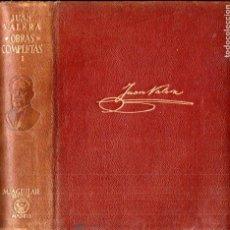 Libros de segunda mano: JUAN VALERA : OBRAS COMPLETAS TOMO I (AGUILAR ETERNAS , 1947) FILOS DECORADOS. Lote 194884298