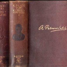 Libros de segunda mano: ARMANDO PALACIO VALDÉS : OBRAS COMPLETAS TOMO I Y II (AGUILAR ETERNAS , 1945 - 48) FILOS DECORADOS. Lote 194884902