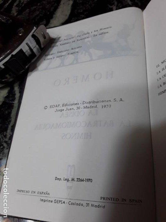Libros de segunda mano: Obras completas, de Homero. Edaf, 1970. Ed. lujo, corte dorado superior. Iliada, Odisea. - Foto 4 - 194891593