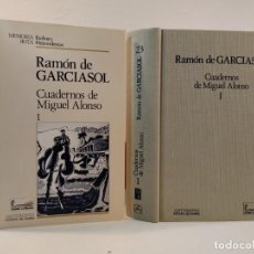 Libros de segunda mano: CUADERNOS DE MIGUEL ALONSO I. GARCIASOL, RAMÓN DE. ANTHROPOS 1991. ISBN 8476582781. Lote 194939583
