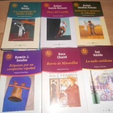 Libros de segunda mano: LOTE 6 NOVELAS LAS 100 MEJORES NOVELAS - PIO BAROJA - RAMON SENDER - ZOE BAROJA - ETC.... Lote 194966606