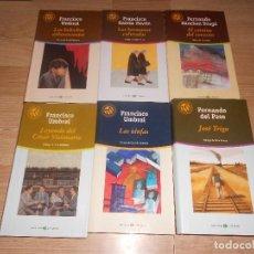 Libros de segunda mano: LOTE 6 NOVELAS LAS 100 MEJORES NOVELAS - 3 DE FRANCISCO UMBRAL - GARCIA PAVON - DEL PASO - ETC.... Lote 194967772