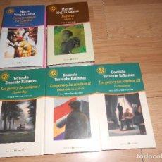 Libros de segunda mano: LOTE 7 LIBROS LAS 100 MEJORES NOVELAS - BOMARZO - LOS GOZOS Y LAS SOMBRAS - VARGAS LLOSA. Lote 194968870