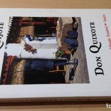 Libros de segunda mano: DON QUIJOTE / QUIXOTE - CERVANTES - EDICION BILINGÜE ESPAÑOL INGLES ABREVIADA CASA ESPAÑA K303. Lote 210010926
