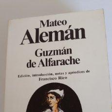 Libros de segunda mano: GUZMÁN DE ALFARACHE DE MATEO ALEMÁN. Lote 194997107