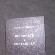 Libros de segunda mano: RINCONETE Y CORTADILLO-MIGUEL DE CERVANTES-1971-EDICIÓN NUMERADA-EL DIABLO COJUELO. Lote 195031552