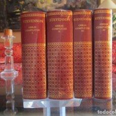 Libros de segunda mano: OBRAS COMPLETAS. STEVENSON. AGUILAR. 4 TOMOS - PRECINTADOS. Lote 195142536