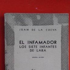 Libros de segunda mano: EL INFAMADOR - LOS SIETE INFANTES DE LARA. JUAN DE LA CUEVA. AUSTRAL Nº895 2ªED. 1949 ESPASA CALPE. Lote 195260785