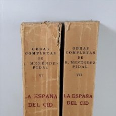 Libros de segunda mano: LA ESPAÑA DEL CID. 2 TOMOS. R. MENÉNDEZ PIDAL. ESPASA-CALPE. MADRID. 1956.. Lote 195273946