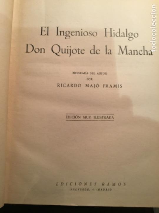 CERVANTES DON QUIJOTE DE LA MANCHA EDICIONES RAMOS (Libros de Segunda Mano (posteriores a 1936) - Literatura - Narrativa - Clásicos)