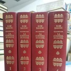 Libros de segunda mano: LA COMEDIA HUMANA. BALZAC. 4 VOLUMENES. EDAF, 1972. Lote 195371606
