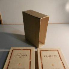 Libros de segunda mano: L'EMIGRÉ (2 VOL.) . MEILHAN, SÉNAC 1946. ED. LA TABLE RONDE., 1946 EN FRANCÉS. Lote 195455155