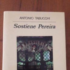 Libros de segunda mano: SOSTIENE PEREIRA. ANTONIO TABUCCHI. ANAGRAMA.. Lote 195511392