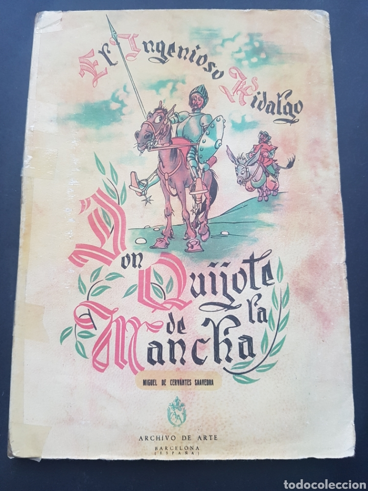 Libros de segunda mano: Lote 2 El ingenioso hidalgo Don Quijote de la Mancha de Archivo de Arte Barcelona Tomo II y Tomo IV - Foto 2 - 195568045