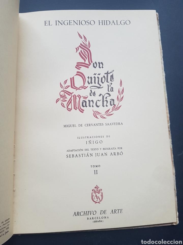 Libros de segunda mano: Lote 2 El ingenioso hidalgo Don Quijote de la Mancha de Archivo de Arte Barcelona Tomo II y Tomo IV - Foto 3 - 195568045