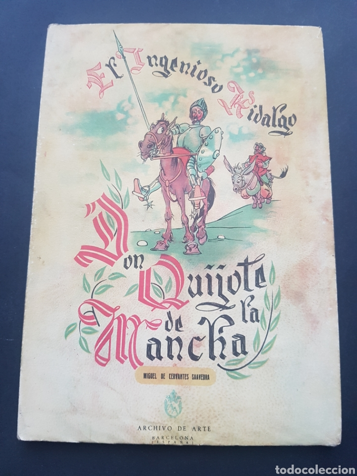 Libros de segunda mano: Lote 2 El ingenioso hidalgo Don Quijote de la Mancha de Archivo de Arte Barcelona Tomo II y Tomo IV - Foto 6 - 195568045