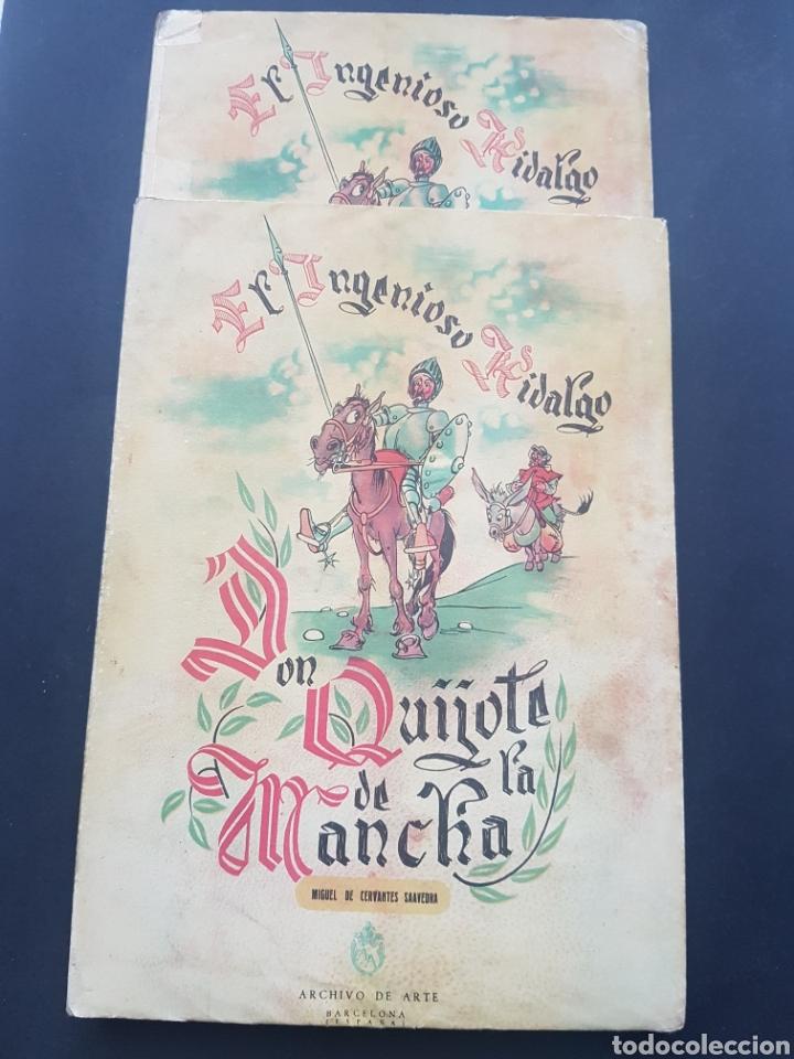 LOTE 2 EL INGENIOSO HIDALGO DON QUIJOTE DE LA MANCHA DE ARCHIVO DE ARTE BARCELONA TOMO II Y TOMO IV (Libros de Segunda Mano (posteriores a 1936) - Literatura - Narrativa - Clásicos)