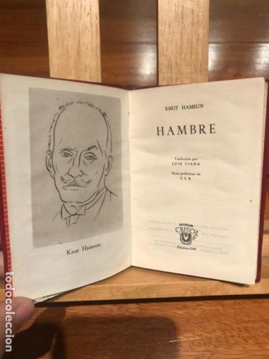 Libros de segunda mano: CRISOL AGUILAR. Knut Hamsun, Hambre. 1952. - Foto 2 - 196133115