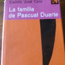 Libros de segunda mano: LA FAMILIA DE PASCUAL DUARTE. Lote 196949890