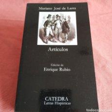 Livros em segunda mão: MARIANO JOSÉ DE LARRA - ARTÍCULOS - CÁTEDRA Nº 141. Lote 197508763