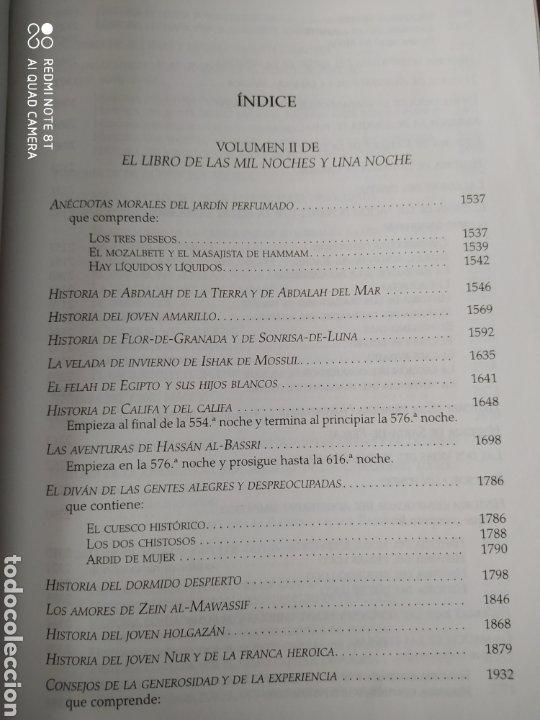 Libros de segunda mano: LAS MIL Y UNA NOCHE II. CÁTEDRA. BIBLIOTECA AVREA. CARTONÉ CON SOBRECUBIERTA. Primera edición abril - Foto 2 - 197561612