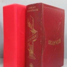 Livres d'occasion: 1970.- OBRAS INMORTALES. OSCAR WILDE. CON ESTUCHE. EDAF. Lote 198567668