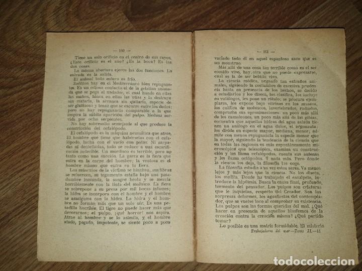 Libros de segunda mano: Trabajadores del Mar. Tomo II. Victor Hugo - Foto 6 - 198610446