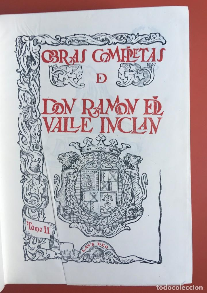 Libros de segunda mano: OBRAS COMPLETAS DE DON RAMON DEL VALLE INCLAN - TOMO II - RIVADENEYRA - ENCUADERNACIÓN PIEL - Foto 5 - 198681661