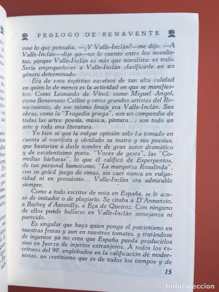 Libros de segunda mano: OBRAS COMPLETAS DE DON RAMON DEL VALLE INCLAN - TOMO II - RIVADENEYRA - ENCUADERNACIÓN PIEL - Foto 8 - 198681661