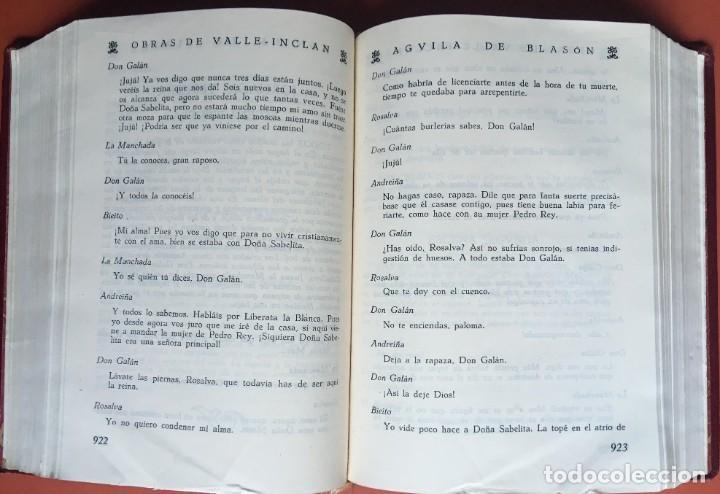 Libros de segunda mano: OBRAS COMPLETAS DE DON RAMON DEL VALLE INCLAN - TOMO II - RIVADENEYRA - ENCUADERNACIÓN PIEL - Foto 10 - 198681661