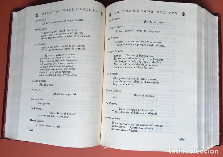 Libros de segunda mano: OBRAS COMPLETAS DE DON RAMON DEL VALLE INCLAN - TOMO II - RIVADENEYRA - ENCUADERNACIÓN PIEL - Foto 12 - 198681661