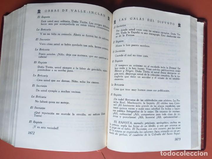 Libros de segunda mano: OBRAS COMPLETAS DE DON RAMON DEL VALLE INCLAN - TOMO II - RIVADENEYRA - ENCUADERNACIÓN PIEL - Foto 14 - 198681661